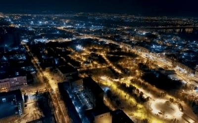 Невероятно красивый город Днепр в зимний период года