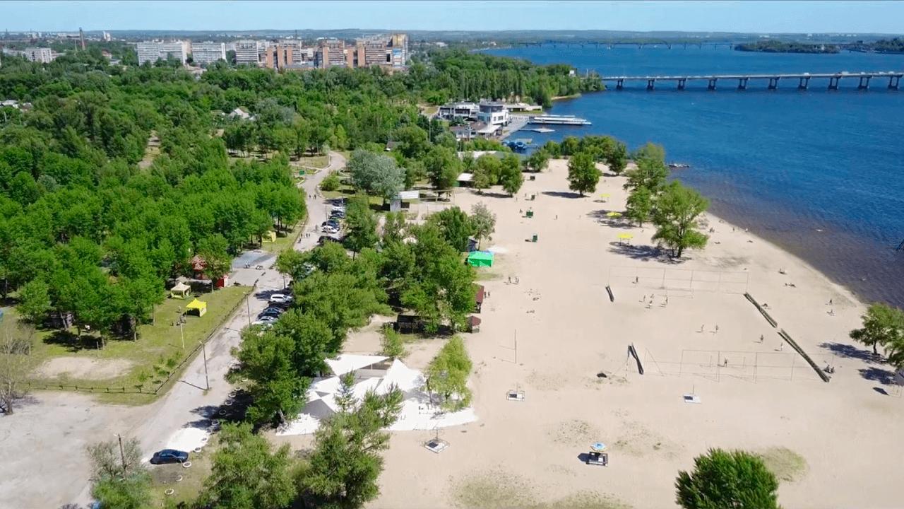Мануйловский пляж (бывший Воронцовский пляж), Днепр. Как выглядит Мануйловский пляж с высоты