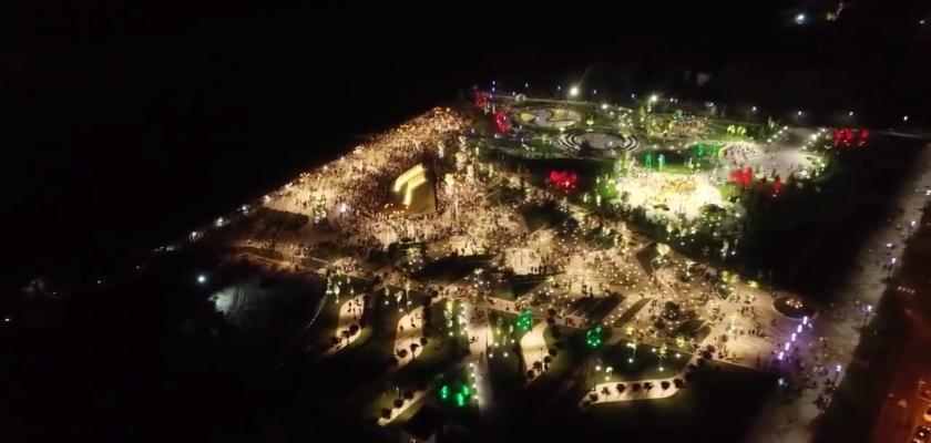 Сквер Прибрежный, Днепр. Как выглядит сквер на Набережной Победы с высоты