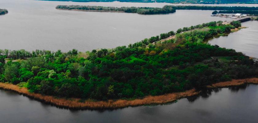 Игренский полуостров, Днепр. Как выглядит Попов мыс с высоты