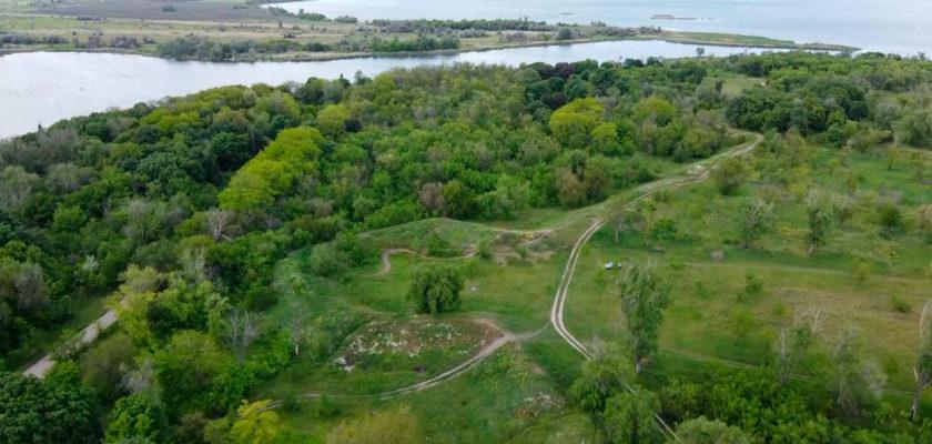 Богородицкая крепость, Днепр. Как выглядят земляные валы Богородицкой крепости с высоты