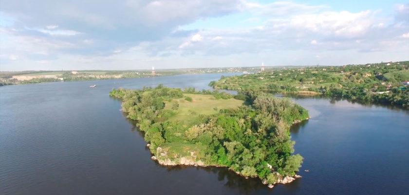 Остров Кодачек, Днепр